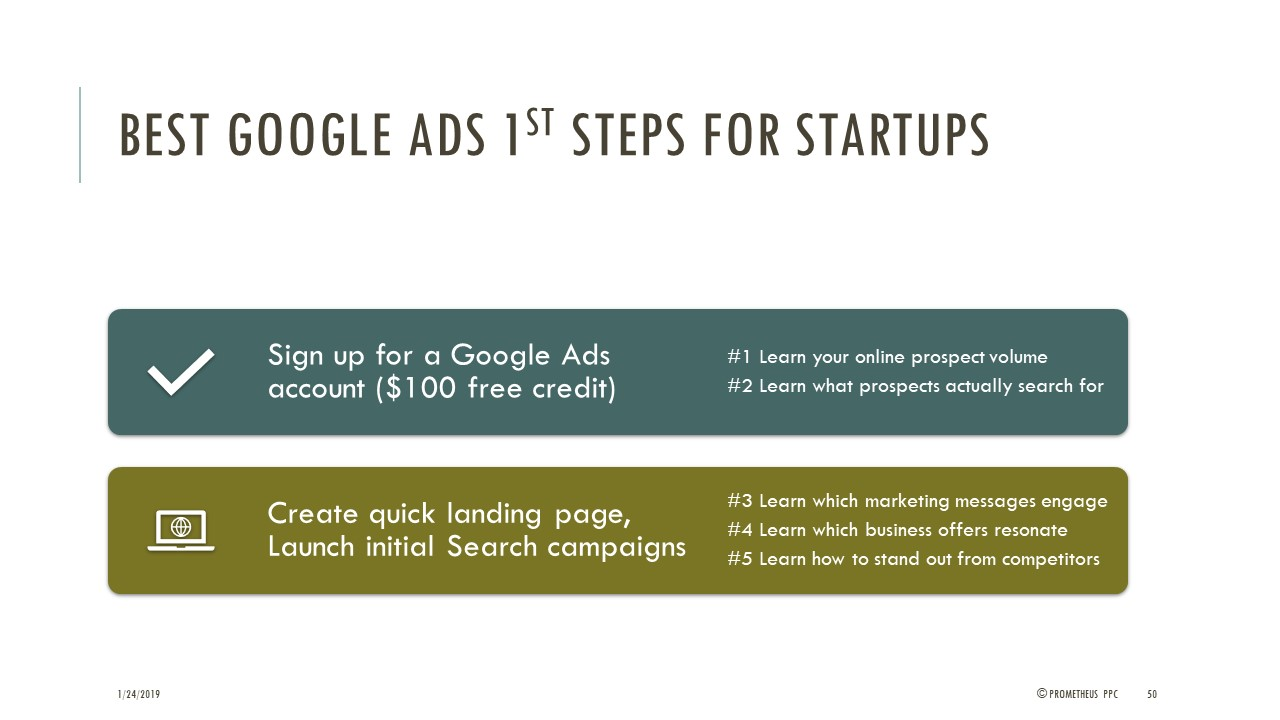 Best First Steps with Google Ads
